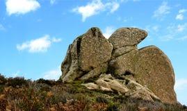 Megalit Argimusco Arkivfoton
