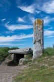 Megalit, stående sten och dolmen av Morbihan, Frankrike royaltyfria bilder