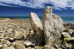 Megalith auf Dover-Küstenlinie Großbritannien Stockbilder