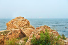 The megalith coast Stock Image