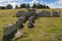 Megalith grave. Girommen in a field Royalty Free Stock Images