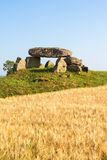 Megalith grave on a hill Stock Image