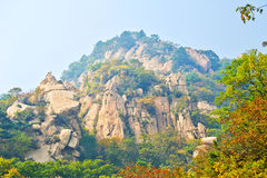 The megalith hills _ autumnal scenery Royalty Free Stock Photography