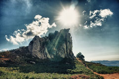 Megalith landscape in hdr Royalty Free Stock Image