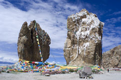 Megalith by the Namtso Lake Stock Photos