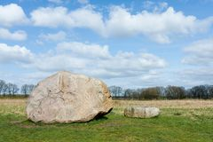 Megalith stones in the Netherlands Stock Photo