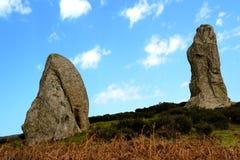 Megalithe Argimusco Stockfotografie