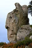 Megalithe Argimusco Stockfoto