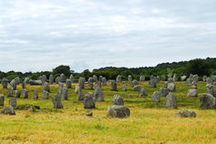 Megalithendenkmäler in Bretagne Stockfoto