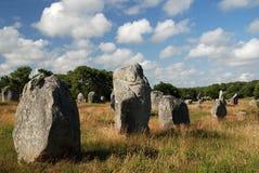 Megalithendenkmal in Bretagne Stockfotos