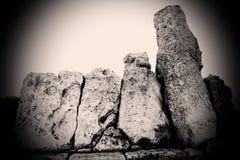 Megalithensäulen stockfotografie