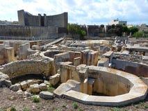 Megalithic структуры висков Tarxien стоковое изображение