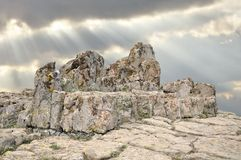 Megalithic architecture - observatory Kokino Royalty Free Stock Images
