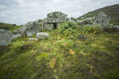 Megalithic court tomb in Co. Donegal, Ireland Stock Photography