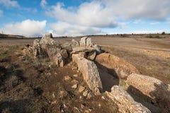 Megalithic Dolmen Prehistocric Mazariegos, Burgos επαρχία, Ισπανία στοκ φωτογραφία με δικαίωμα ελεύθερης χρήσης