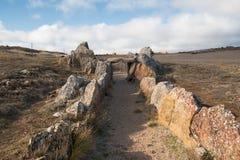 Megalithic Dolmen Prehistocric Mazariegos, Burgos επαρχία, Ισπανία στοκ εικόνα με δικαίωμα ελεύθερης χρήσης