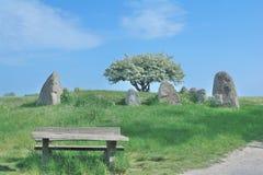 Megalithic Grave,Ruegen Island,Germany Stock Photo