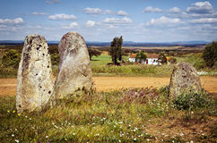Megalithic Menhirs Stock Image