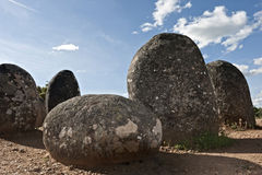 Megalithic monument of Almendres, Evora Stock Photo
