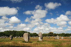 Megalithic monument in Brittany. Prehistoric megalithic monument by Carnac, Brittany, France Stock Photography