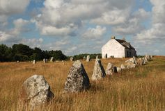 Megalithic monument in Brittany. Prehistoric megalithic monument by Carnac, Brittany, France Stock Photos