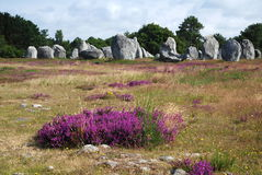 Megalithic monument in Brittany Royalty Free Stock Photography