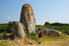 Megalithic monument in Brittany Stock Image