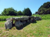 Megalithic monument i Brittany Arkivfoto