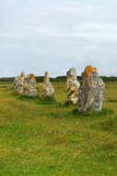 Megalithic monuments in Brittany. Prehistoric megalithic monuments menhirs in Brittany, France stock photography