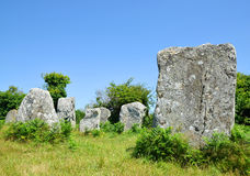 Megalithic monuments menhirs in Carnac Stock Photography