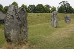 Megalithic stone circle at Avebury. UK. Standing stones of the megalithic stone circle at Avebury. Wiltshire. England Royalty Free Stock Image
