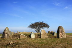 Megalithic stone grave. On the island of Ruegen, Germany Royalty Free Stock Photography
