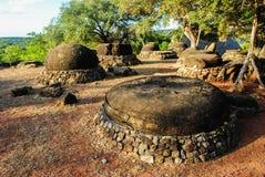Megalithic stones on Savu island Stock Image