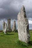 Megalithic stones in Scotland Stock Image