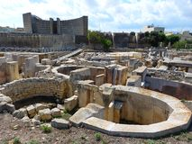 Megalithic structures of the Tarxien Temples Stock Image