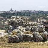 Megalithic Temple on Malta Stock Image