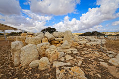 Megalithic Temples of Malta (super wide angle) Royalty Free Stock Photography