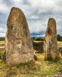 Megalithic Tiya stone pillars near Addis Abbaba, Ethiopia Stock Images