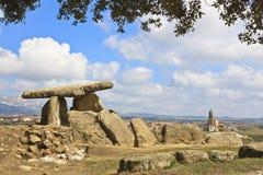 Megalithic tomb. Dolmen La Chabola de la Hechicera, Elvillar, Alava, Spain Royalty Free Stock Photos