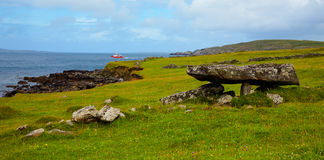 Megalithic tomb at Cleggan bay Stock Photography