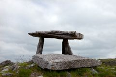Megalithic tomb, Ireland. Anchient megalithic stone tomb at Poulnabrone in the Burren, Ireland Stock Photos