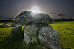 Megalithic tomb and stone circle Royalty Free Stock Images