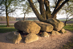 Megalithic tomb stone grave Royalty Free Stock Images