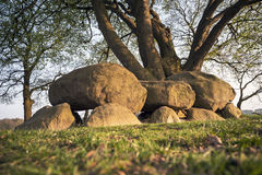 Megalithic tomb stone grave. In the province Drenthe, Netherlands Stock Photography