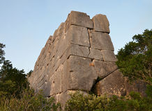 Megalithic wall Royalty Free Stock Photo