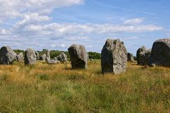 Megaliths de Carnac Photographie stock