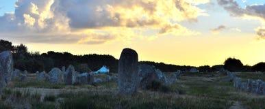 Megaliti bretoni di Carnac Fotografia Stock