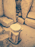 Megalitic寺庙复合体- Hagar Qim在马耳他 免版税库存图片