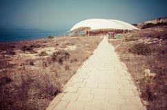 Megalitic tempelkomplex - Hagar Qim i Malta Royaltyfria Bilder