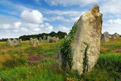 Megalitische monumenten in Bretagne Stock Foto's